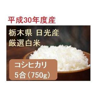 平成30年産 新米750g(5合) 栃木県 白米コシヒカリ(米/穀物)