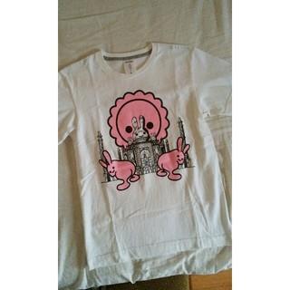 キューン(CUNE)のCUNEキューンおしりうさぎTシャツ白S(Tシャツ/カットソー(半袖/袖なし))
