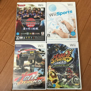 ウィー(Wii)のwiiソフト4個(家庭用ゲームソフト)