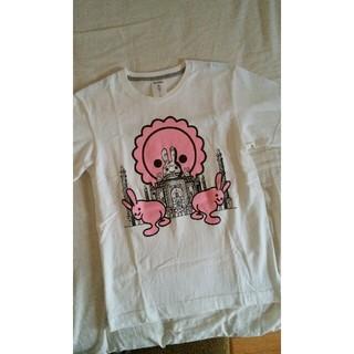 キューン(CUNE)のCUNEキューンおしりうさぎTシャツ白S(Tシャツ(半袖/袖なし))