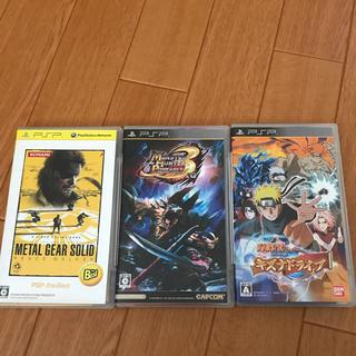 プレイステーションポータブル(PlayStation Portable)のpspソフト3個(携帯用ゲームソフト)