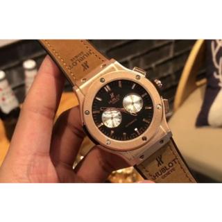 ウブロ(HUBLOT)の人気  HUBLOT   ウブロ  腕時計 カッコイイ 実物 保存箱付き 綺麗(レザーベルト)