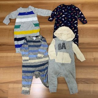 ベビーギャップ(babyGAP)の♡baby gap♡ベビーギャップ 長袖コンビ 3枚セット(ロンパース)