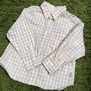 コムサイズム(COMME CA ISM)の美品 100サイズ COMME CA ISM チェックシャツ(ブラウス)