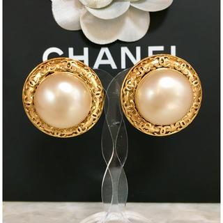 9e2cb624d22c CHANEL - 正規品 シャネル イヤリング パール ゴールド ココマーク 丸 金 真珠 ロゴ