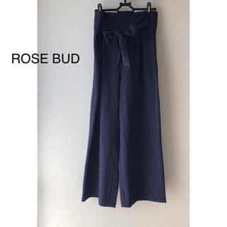 ローズバッド(ROSE BUD)の【ROSE BUD】ハイウエストワイドパンツ(カジュアルパンツ)