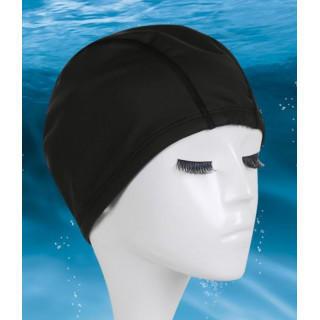 新品未使用 スイミングキャップ 黒 プール 帽子 フリーサイズ 大きいサイズ(水着)