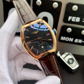 ロンジン(LONGINES)の腕時計 LONGINES  ロンジン メンズ 自動巻き 人気 ほぼ新品(レザーベルト)