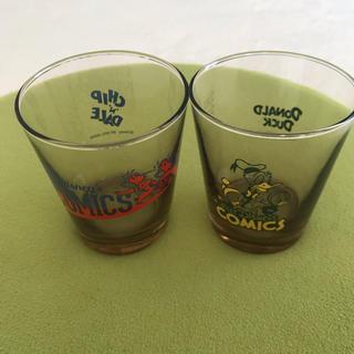 ディズニー(Disney)のディズニー ガラスコップ 2個セット ドナルド チップとデール(グラス/カップ)