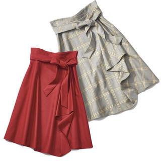 アプワイザーリッシェ(Apuweiser-riche)のチェック ラッフルスカート (ひざ丈スカート)