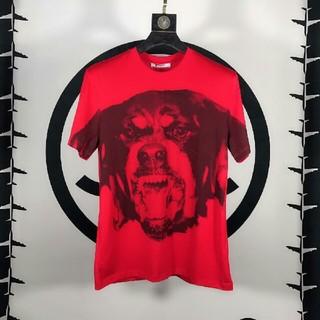 ジバンシィ(GIVENCHY)のGivenchy ジバンシィ 犬(▽・w・▽) レッド Tシャツ (Tシャツ/カットソー(半袖/袖なし))