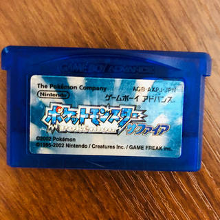 ゲームボーイアドバンス(ゲームボーイアドバンス)のGBA ポケットモンスター サファイア ゲームボーイ ゲームボーイアドバンス(携帯用ゲームソフト)