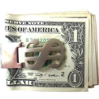 ドル シルバー マネークリップ 財布 サイフ ウォレット(マネークリップ)