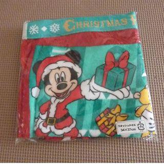 ディズニー(Disney)のディズニー 2003年 クリスマス ウオッシュタオル 未開封(タオル/バス用品)