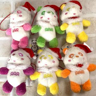 トリプルエー(AAA)のAAA クリスマス  パンダ  キーホルダー  6つ(アイドルグッズ)