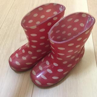 アンパンマン(アンパンマン)の長靴 ドット 水玉 赤 15センチ(長靴/レインシューズ)