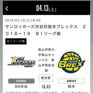 4/13 SR渋谷vs栃木(バスケットボール)