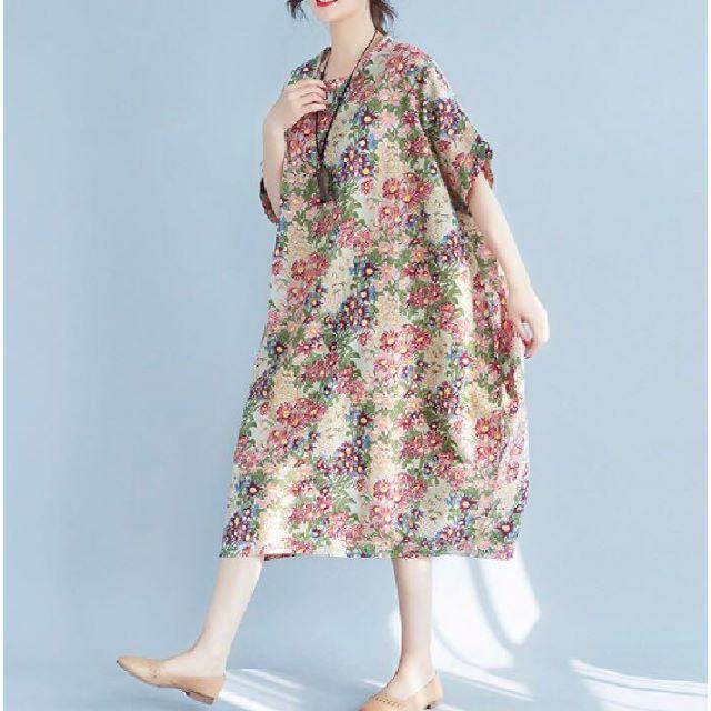 ZARA - 25【2019年春新作!】肌に優しい綿素材 花柄 ロング ワンピース ボタニカルの通販 by ラクマ   ショップ|ザラならラクマ