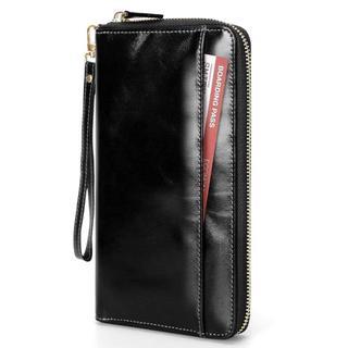 パスポートケース カードケース 大容量 本革製 RFIDスキミング防止 F423(パスケース/IDカードホルダー)