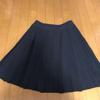 ロペ(ROPE)の★ROPE ウール プリーツスカート ブラック★(ひざ丈スカート)