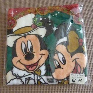 ディズニー(Disney)のディズニー ウオッシュタオル クリスマス 未開封(タオル/バス用品)