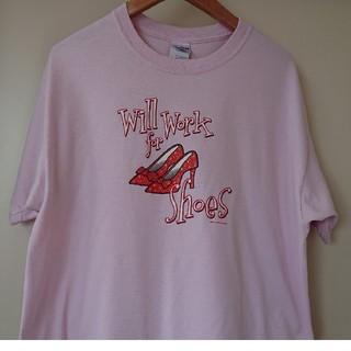 ギルタン(GILDAN)の☆US古着GILDANパンプスプリントTシャツL(Tシャツ/カットソー(半袖/袖なし))