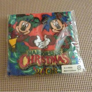 ディズニー(Disney)のディズニーシー ミニタオル 2003年 クリスマス 未開封(タオル/バス用品)