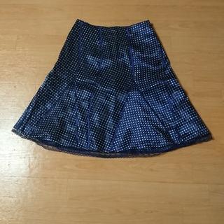 エムケークランプリュス(MK KLEIN+)のMKKLEIN ドットスカート(ひざ丈スカート)