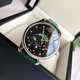 グッチ(Gucci)のグッチ GUCCI 男性 緑 腕時計 クォーツ 高級感 個性的 激売れ(その他)