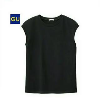 ジーユー(GU)のGU ノースリーブT  XL ブラック(カットソー(半袖/袖なし))