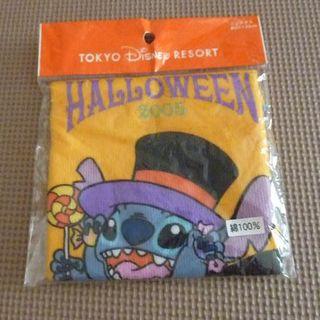 ディズニー(Disney)のディズニーリゾート 2005年 ハロウィン スティッチ ミニタオル 未開封(タオル/バス用品)
