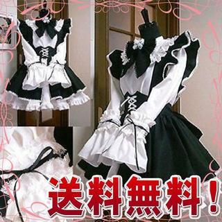 b572928bcd7e1  新品 コスプレ衣装 メイド服 3点セット (レディース L)