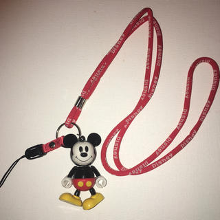 ディズニー(Disney)のディズニー ミッキーマウスのカチャカチャおもちゃ付きネックストラップ 手だけ可動(ネックストラップ)
