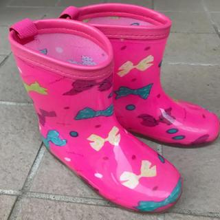 リボン柄レインブーツ 18cm 長靴 K's PLUS ケーズプラス(長靴/レインシューズ)