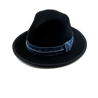 ディーゼル(DIESEL)のDIESEL ディーゼル ハット 帽子 デニム ウール ブラック(ハット)