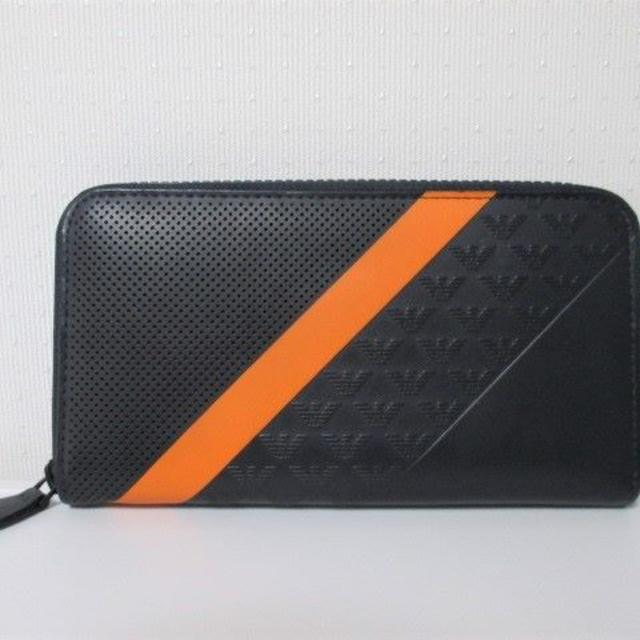 015350b2e194 Emporio Armani(エンポリオアルマーニ)の☆エンポリオアルマーニ 長財布 ファスナー 財布/メンズ