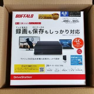 バッファロー(Buffalo)の新品 バッファロー 外付けHDD 4TB HD-NRLD4.0U3-BA(PC周辺機器)