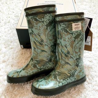 エーグル(AIGLE)のAIGLE レインブーツ 長靴 28 リバティ コラボ 新品 エーグル キッズ(長靴/レインシューズ)