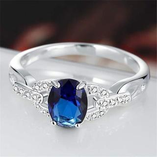 リング シンプル 指輪 レディース ジルコン ファッション デザイン25号(リング(指輪))