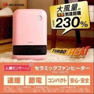 アイリスオーヤマ 人感センサー付き セラミックファンヒーター 1200w(電気ヒーター)