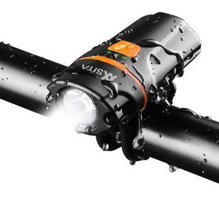 自転車ヘッドライトUSB充電式 【PSE規格品】高輝度 6段階点灯モード(その他)