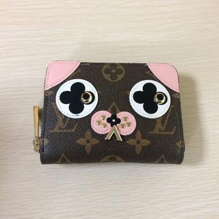 LOUIS VUITTON - ピンク かわいい 犬柄 コインケース