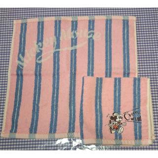 ディズニー(Disney)のuchino内野/ディズニー  ミッキー/ウォッシュタオル2枚ピンク(タオル/バス用品)