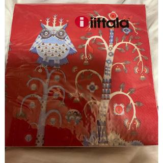 イッタラ(iittala)のイッタラ タイカ レッド ペーパーナプキン 5枚(テーブル用品)