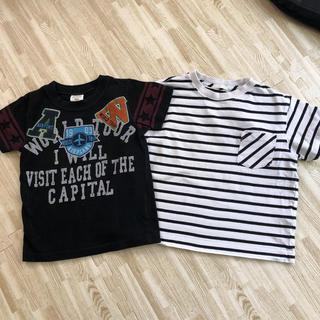 ジーユー(GU)のGU 半袖Tシャツ&バクプリTシャツ 110cm(Tシャツ/カットソー)