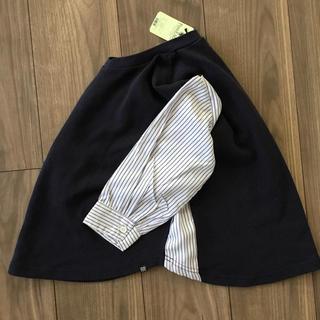 デニムダンガリー(DENIM DUNGAREE)の新品◎袖シャツ切り替えトレーナー カットソー◎キッズ 120センチ(Tシャツ/カットソー)