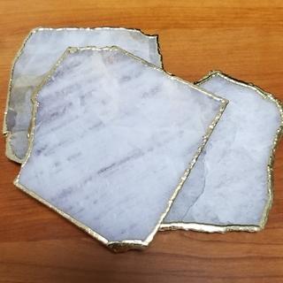 アンソロポロジー(Anthropologie)のAnthropologie AGATA コースター White(テーブル用品)