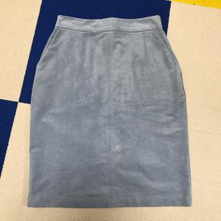 ケービーエフプラス(KBF+)のKBF スウェードタイトスカート(ひざ丈スカート)