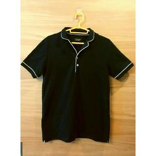 ZARA ポロシャツ メンズ 黒シャツ