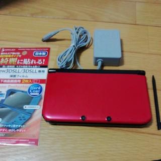 ニンテンドー3DS - 【完動品】 3DSLL【レッドxブラック】本体 おまけソフト、充電器、SDカード